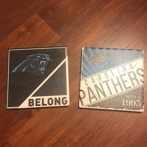 NFL Panthers Coasters